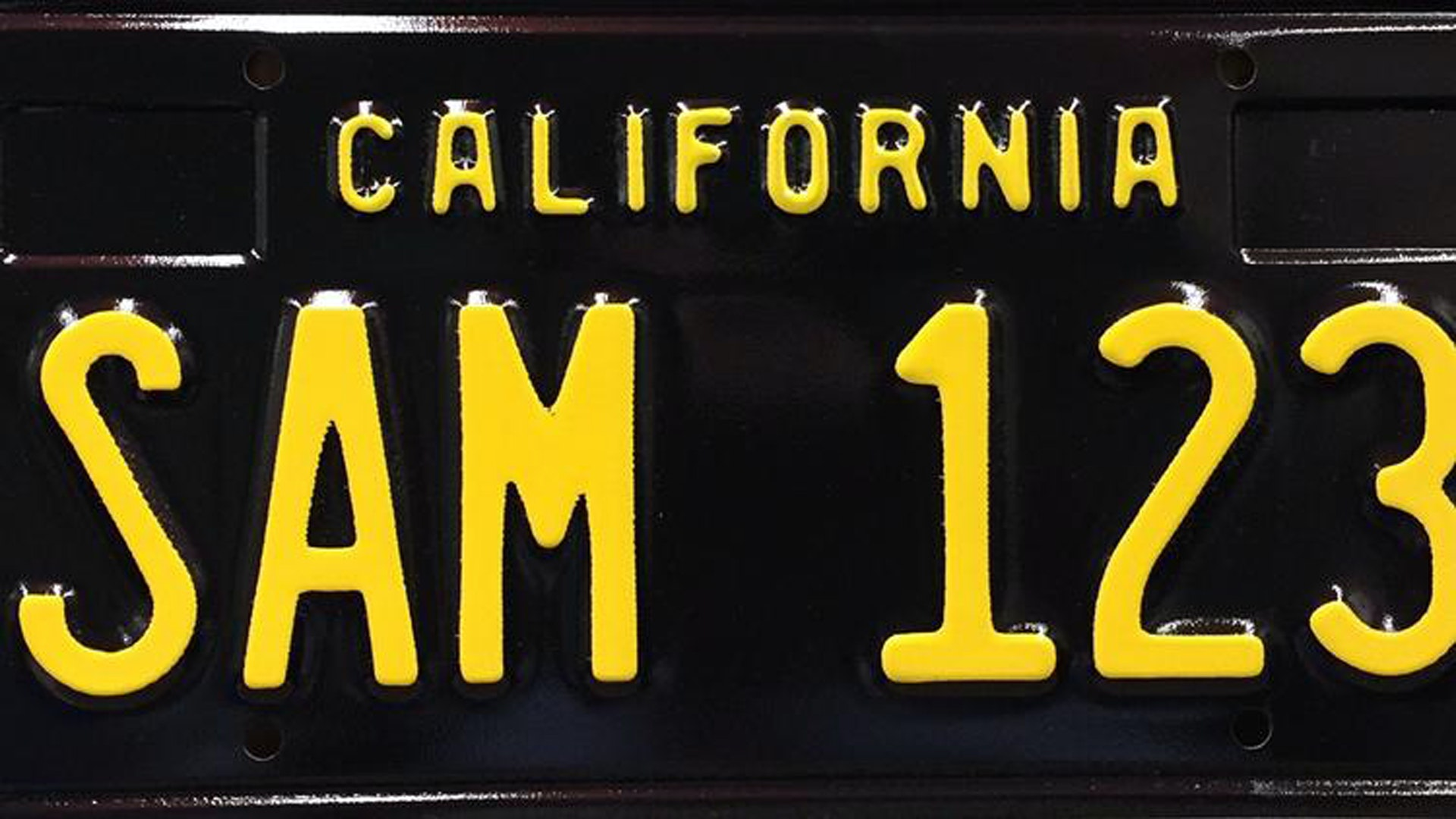 California's Black License Plates